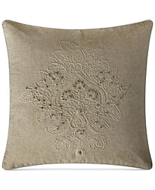 "VCNY Home Katarina Embroidered 18"" Square Decorative Pillow"