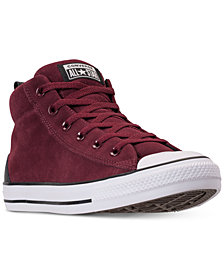 Converse Men's Chuck Taylor Street Mid Varsity Jacket Casual Sneakers from Finish Line