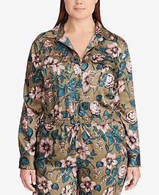 Lauren Ralph Lauren Plus Size Floral-Print Twill Shirt