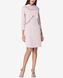 Tahari ASL Envelope-Collar Jacket & Dress Suit