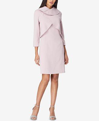 Tahari Asl Envelope Collar Jacket Dress Suit Wear To Work