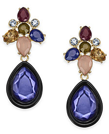 I.N.C. Two-Tone Multi-Stone Drop Earrings, Created for Macy's