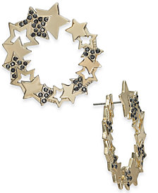 Thalia Sodi Large Gold-Tone Stone & Star Spiral Stud Earrings, Created for Macy's