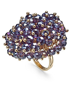 I.N.C. Gold-Tone Shaky Bead Statement Ring, Created for Macy's
