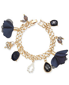 I.N.C. Gold-Tone Multi-Charm Link Bracelet, Created for Macy's