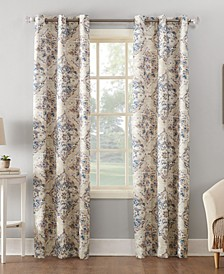 "Regina 40"" x 84"" Watercolor Floral Thermal Insulated Curtain Panel"