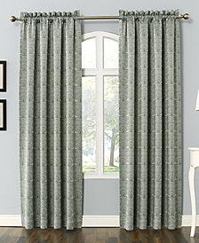 "Sun Zero Dmitri 54"" X 84"" Damask Print Room Darkening Rod Pocket Curtain Panel"