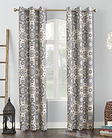 Sun Zero Nepal Global Print Blackout Grommet Curtain Panel Collection