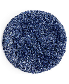 "CLOSEOUT! Martha Stewart Collection Marled 24"" Round Bath Rug, Created for Macy's"