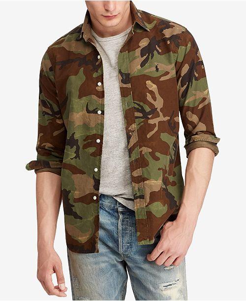 4098a5457d ... Polo Ralph Lauren Men s Big   Tall Classic-Fit Camo Oxford Shirt ...