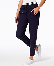 Ultra Flirt by Ikeddi Juniors' Snapped Drawstring Jogger Pants