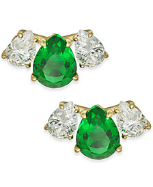 Danori Crystal & Stone Stud Earrings, Created for Macy's