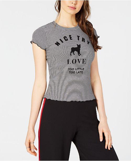 Shirt 28 NYC Print Striped T PROJECT Graphic White Black YRFwHnx