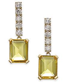 Danori Crystal Stone Drop Earrings, Created for Macy's