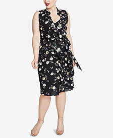 RACHEL Rachel Roy Trendy Plus Size Ruffled Floral-Print Dress