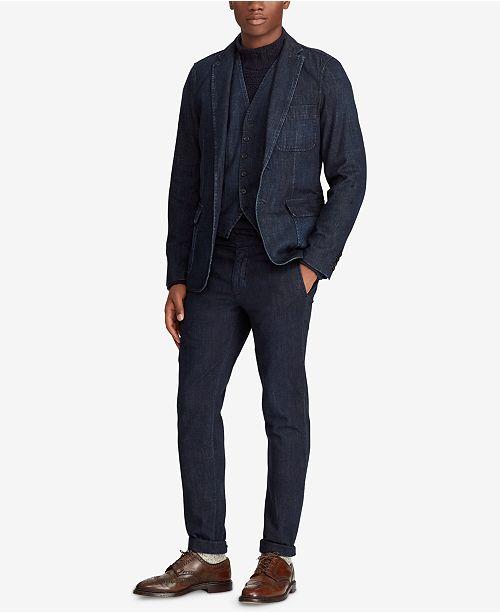 c96fce89 Polo Ralph Lauren Men's Morgan Denim Suit Jacket & Reviews ...