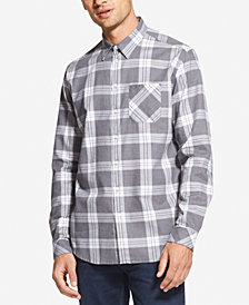DKNY Men's Plaid Pocket Shirt