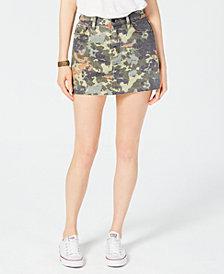 Hudson Jeans Camouflage-Print Denim Skirt