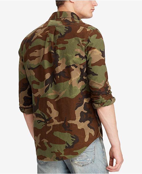 1103bc338 ... Polo Ralph Lauren Men s Camouflage Oxford Classic Fit Shirt ...