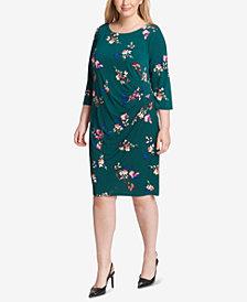 Jessica Howard Plus Size Floral Jersey Wrap Dress