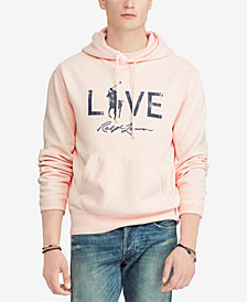 Polo Ralph Lauren Men's Pink Pony Fleece Hoodie