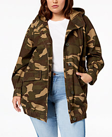 Levi's® Plus Size Cotton Camo Bubble Parka