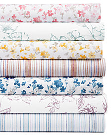 Martha Stewart Collection 4-Pc Printed Sheet Sets, 400 Thread Count 100% Cotton Percale, Created for Macy's