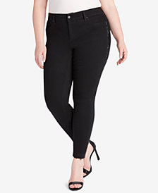 Jessica Simpson Trendy Plus Size Kiss Me Super Skinny Jeans