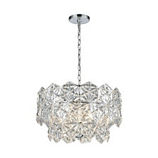 Lalique 4 Light Pendant, Polished Chrome