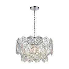 Lalique 4 Light Pendant, Polished Chrome