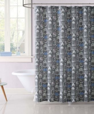 Kids Roboto Printed Shower Curtain