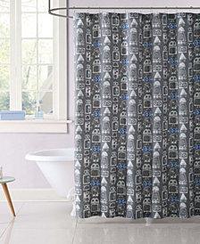 Laura Hart Kids Roboto Printed Shower Curtain