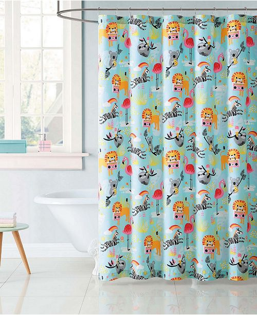 My World Printed Shower Curtain Collection