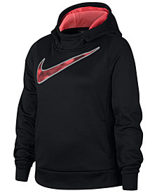 Nike Big Girls Logo-Graphic Training Hoodie
