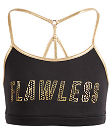 Ideology Big Girls Plus Flawless-Print Sports Bra, Created for Macy's
