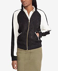 Lauren Ralph Lauren Two-Tone Bomber Jacket
