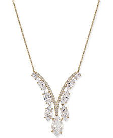 "Danori Crystal & Stone Lariat Necklace, 16"" + 2"" extender, Created for Macy's"
