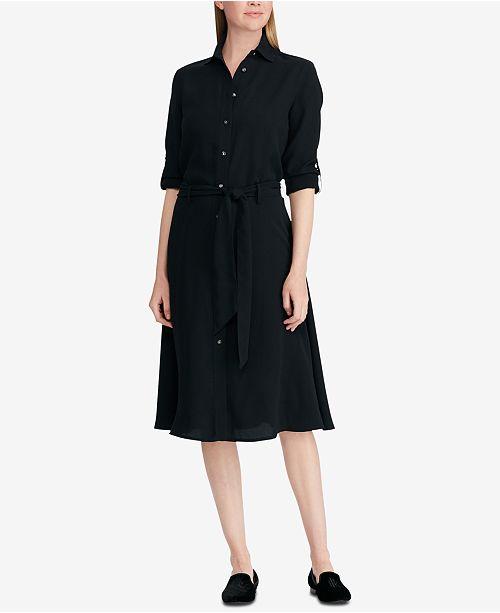 c446194b83fa Lauren Ralph Lauren Fit   Flare Shirtdress   Reviews - Dresses ...