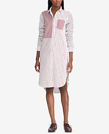 Lauren Ralph Lauren Striped Cotton Shirtdress