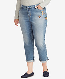 Lauren Ralph Lauren Plus Size Premier Estate Crop Jeans
