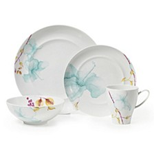 Aliza Teal 4-Piece Place Setting