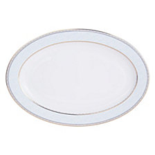 Mikasa Blaire Blue Gold-Tone Oval Platter