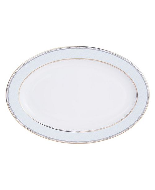 Mikasa Blaire Blue Gold-Tone Oval Platter