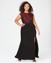 baebe3d78632f Morgan   Company Trendy Plus Size Glitter Lace Dress