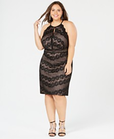 Morgan & Company Trendy Plus Size Lace Dress