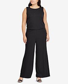 Ralph Lauren Plus Size Wide-Leg Jumpsuit