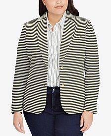 Lauren Ralph Lauren Plus Size Striped Blazer