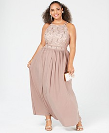 Trendy Plus Size Lace Dress