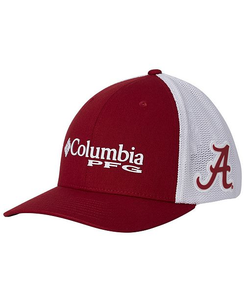 Columbia Alabama Crimson Tide PFG Stretch Fitted Cap - Sports Fan ... 685de39a559