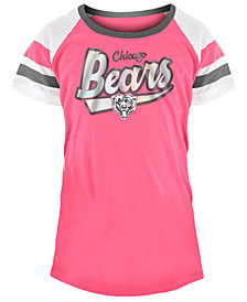 5th & Ocean Chicago Bears Pink Foil T-Shirt, Girls (4-16)